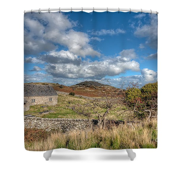 Church View Shower Curtain by Adrian Evans