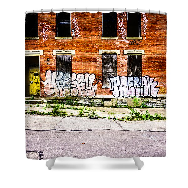 Cincinnati Glencoe Auburn Place Graffiti Photo Shower Curtain by Paul Velgos