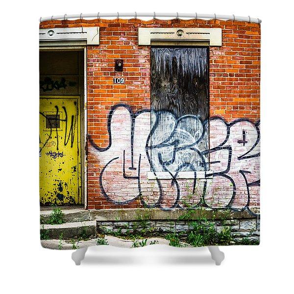 Cincinnati Glencoe Auburn Place Graffiti Picture Shower Curtain by Paul Velgos
