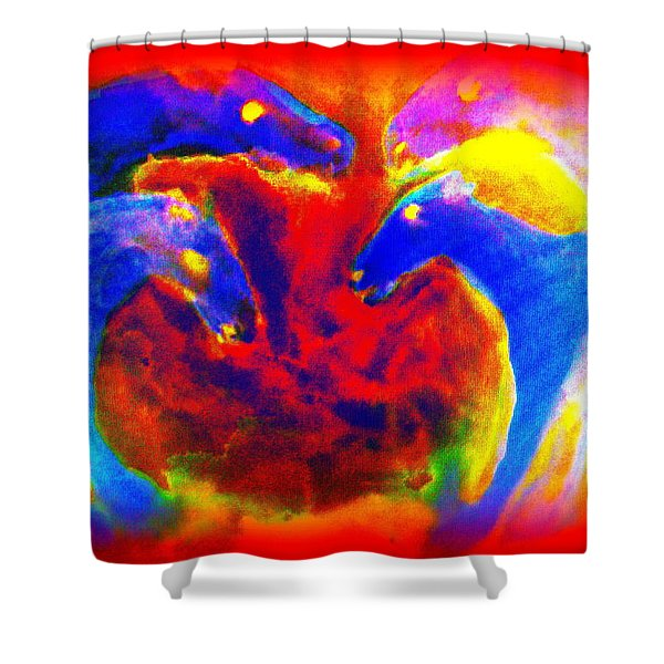 Circle of love Shower Curtain by Hilde Widerberg