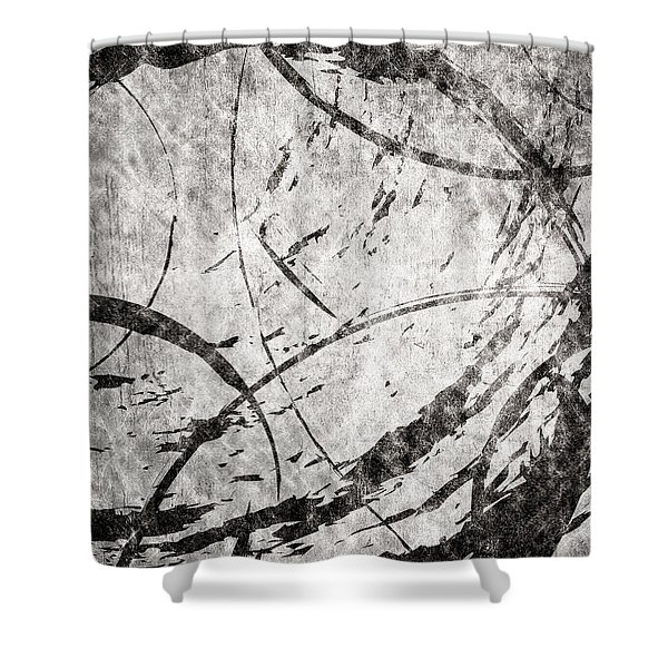 Circles Shower Curtain by Brett Pfister