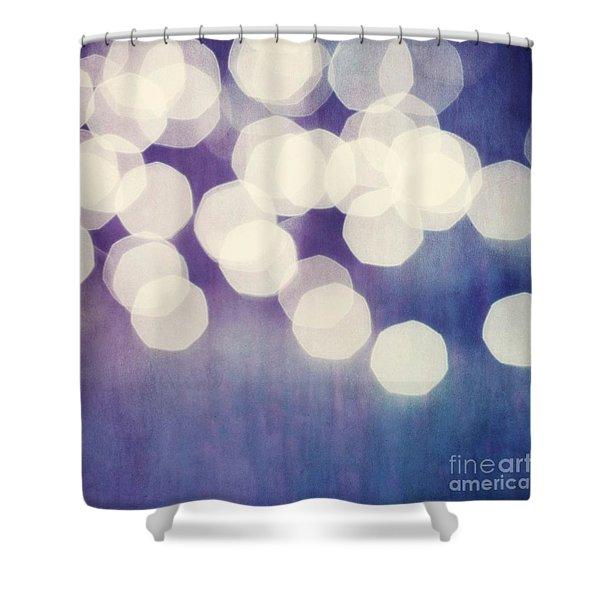 Circles Of Light Shower Curtain by Priska Wettstein