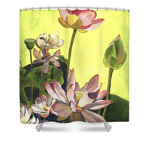 Citron Lotus 1 Shower Curtain by Debbie DeWitt