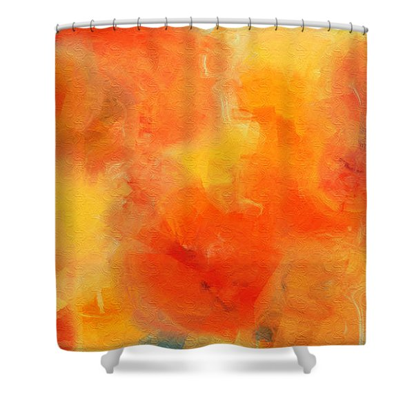 Citrus Passion - Abstract - Digital Painting Shower Curtain by Andee Design