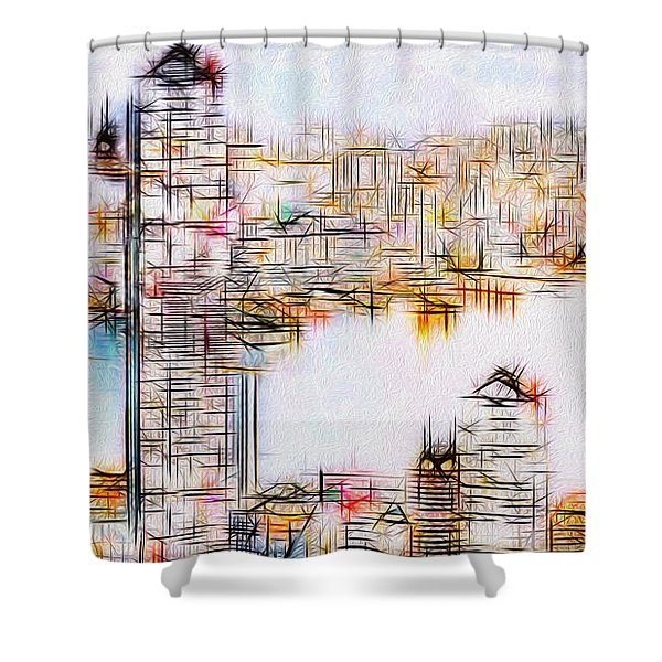 City By The Bay Shower Curtain by Jack Zulli