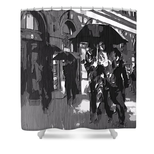 City Rain Shower Curtain by Dan Sproul