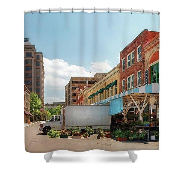 City - Roanoke VA - The City Market Shower Curtain by Mike Savad
