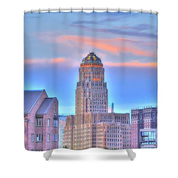 Cityscape Shower Curtain by Kathleen Struckle