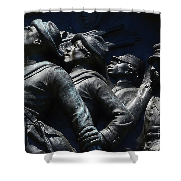 Civil War Figures Shower Curtain by Paul W Faust -  Impressions of Light