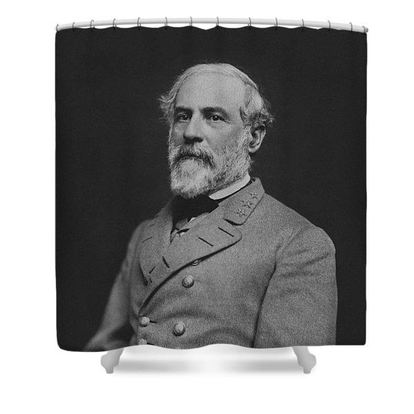 Civil War General Robert E Lee Shower Curtain by War Is Hell Store