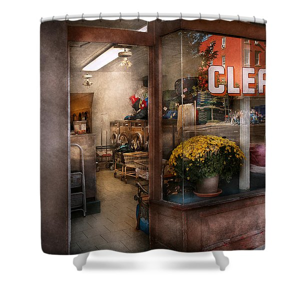 Cleaner - Ny - Chelsea - The Cleaners Shower Curtain by Mike Savad
