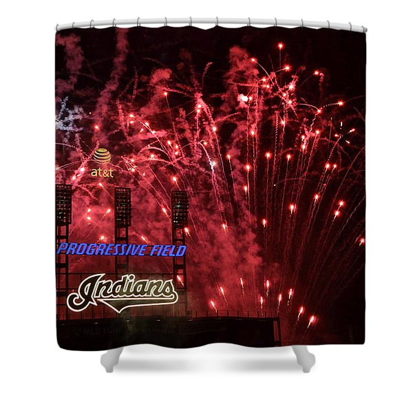 Cleveland Indians Shower Curtain by Frozen in Time Fine Art Photography