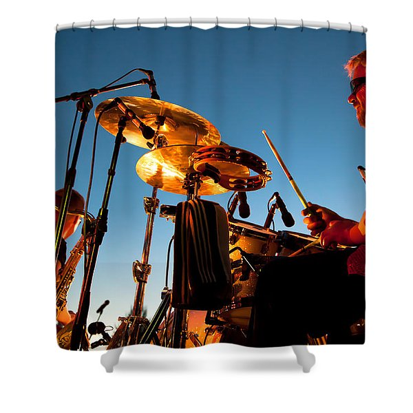 Cliff Miller and Dale Keeney - The Kingpins Shower Curtain by David Patterson