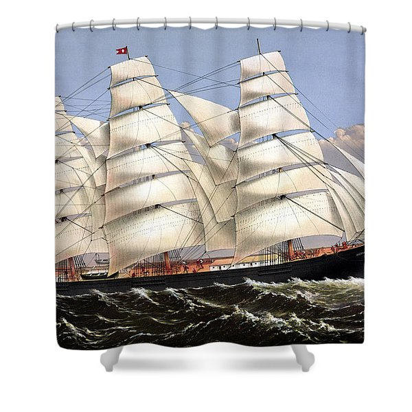 Clipper Ship Three Brothers Shower Curtain by War Is Hell Store