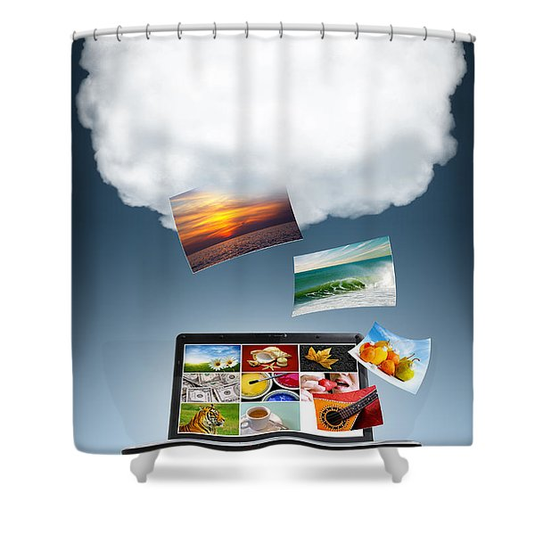 Cloud Technology Shower Curtain by Carlos Caetano
