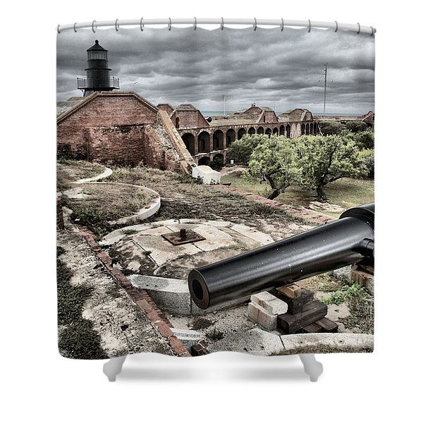 Clouds In The Keys Shower Curtain by Adam Jewell
