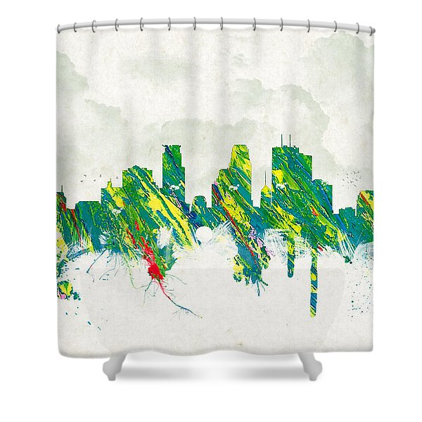 Clouds Over Minneapolis Minnesota USA Shower Curtain by Aged Pixel