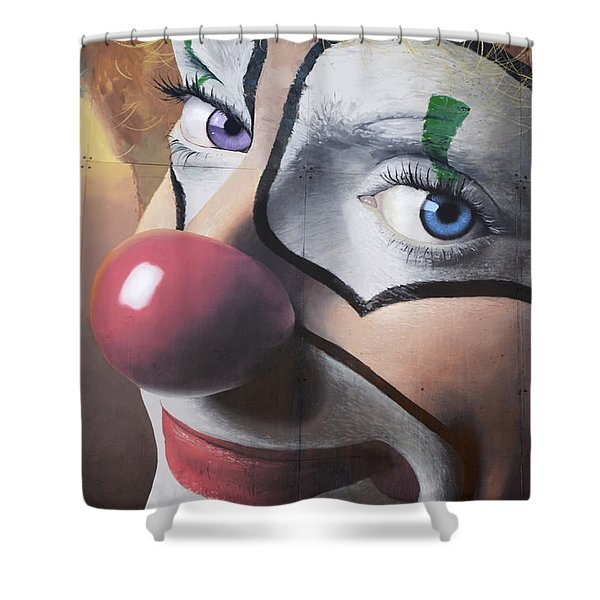 Clown Mural Shower Curtain by Bob Christopher