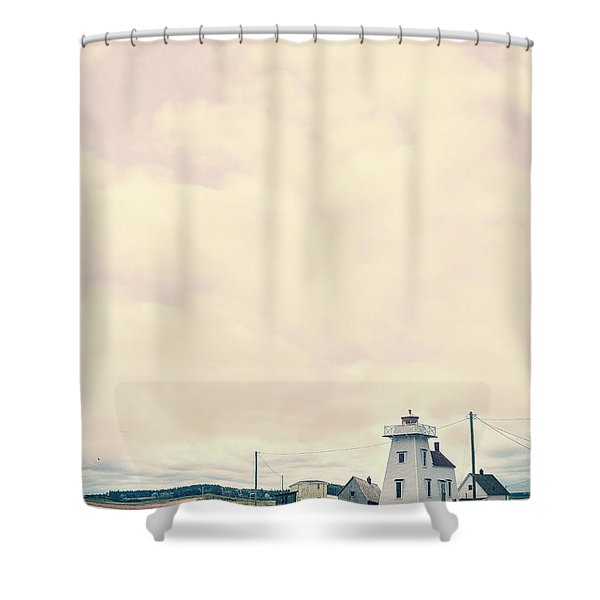Coastal Town Shower Curtain by Edward Fielding