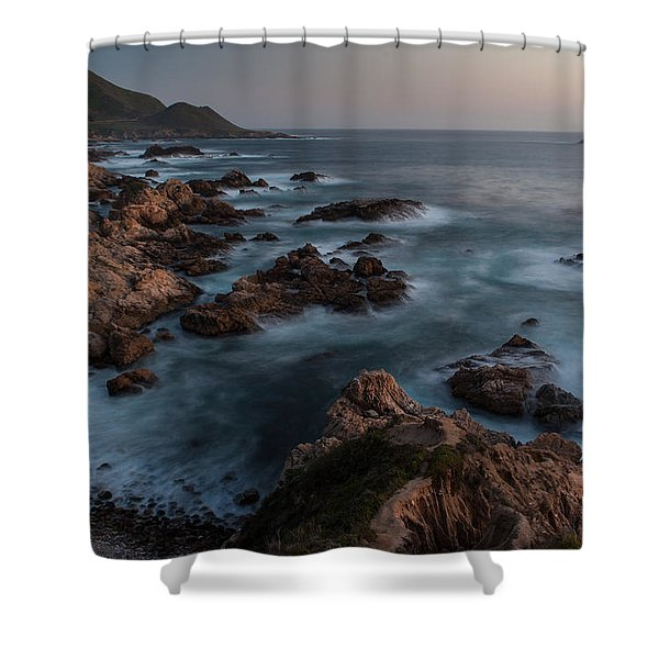 Coastal Tranquility Shower Curtain by Mike Reid