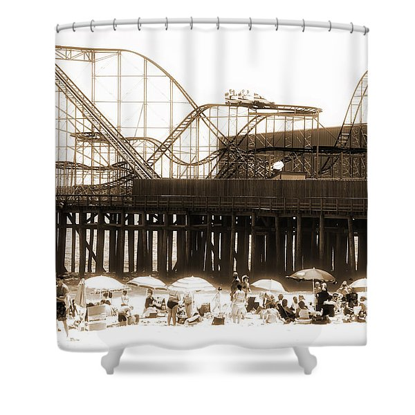 Coaster Ride Shower Curtain by John Rizzuto