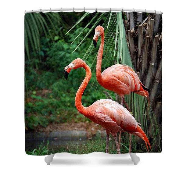 CODE PINK Shower Curtain by Skip Willits