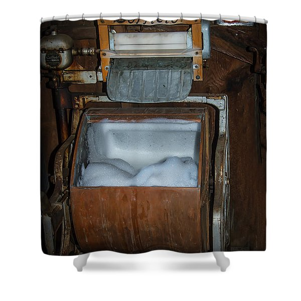 Coffield Washer Shower Curtain by Robert Bales