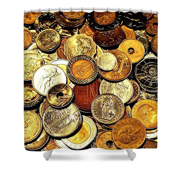 Coinage Shower Curtain by Benjamin Yeager
