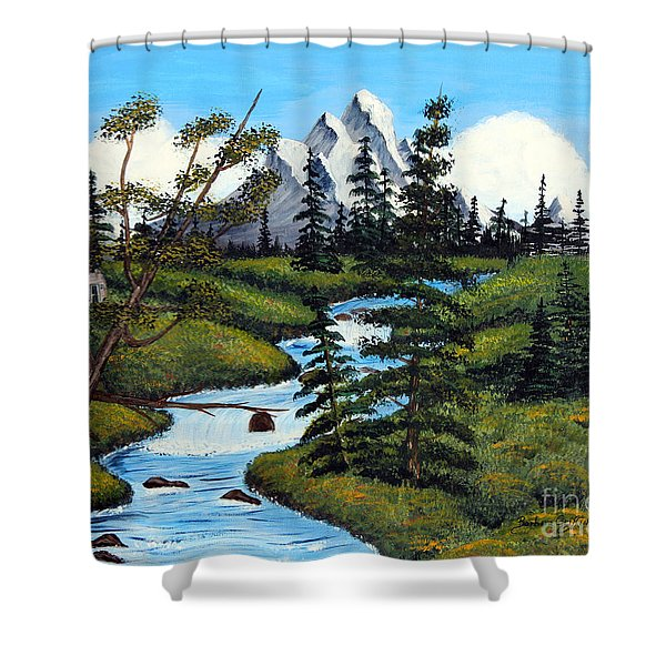 Cold Rattling Brook  Shower Curtain by Barbara Griffin