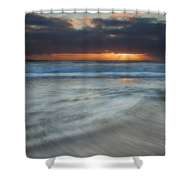Colliding Tides Shower Curtain by Mike  Dawson