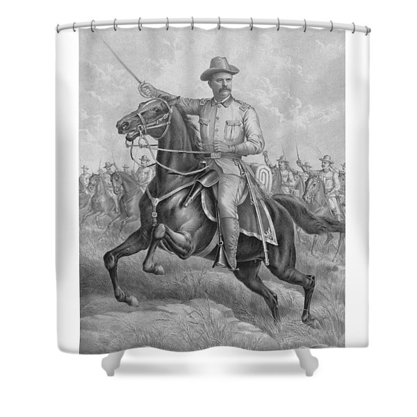 Colonel Roosevelt Leading Troops Shower Curtain by War Is Hell Store