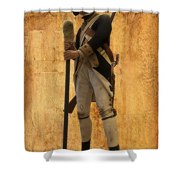 Colonial Soldier Shower Curtain by Thomas Woolworth