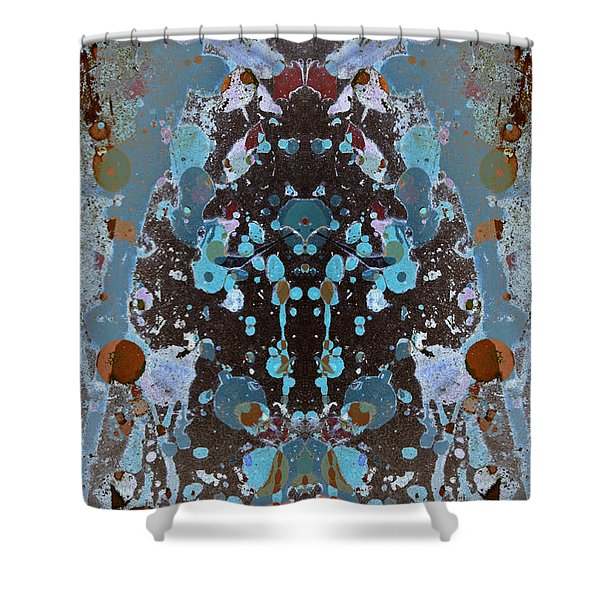 Color Abstraction No. 4 Shower Curtain by David Gordon