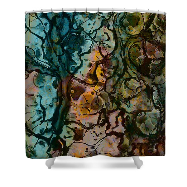 Color Abstraction XVI Shower Curtain by David Gordon