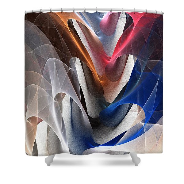 Color Fold Shower Curtain by Anastasiya Malakhova