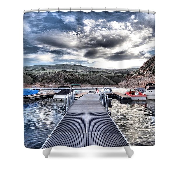 Colorado Boating Shower Curtain by Dan Sproul