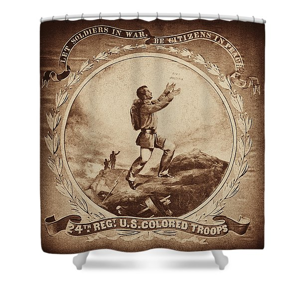 Colored Troop Recruiting Shower Curtain by Paul W Faust -  Impressions of Light