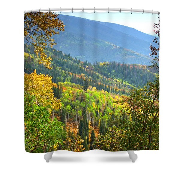 Colorful Colorado Shower Curtain by Brian Harig
