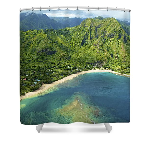 Colorful Kauai Coastline Shower Curtain by Kicka Witte