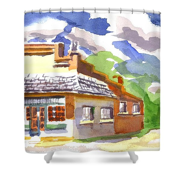 Colorful May Morning Shower Curtain by Kip DeVore