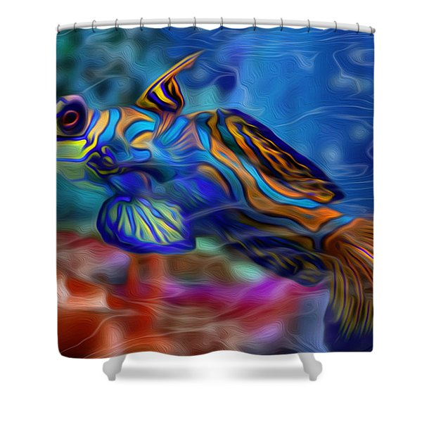 Colors Below 2 Shower Curtain by Jack Zulli