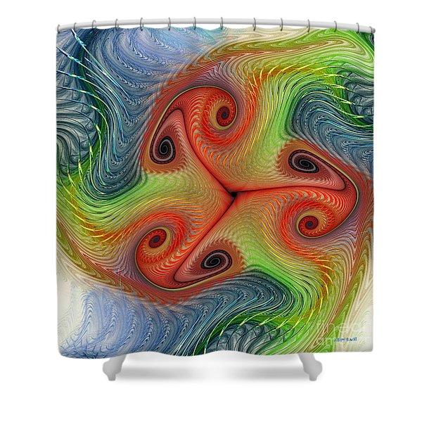 Colors of Delight Shower Curtain by Deborah Benoit