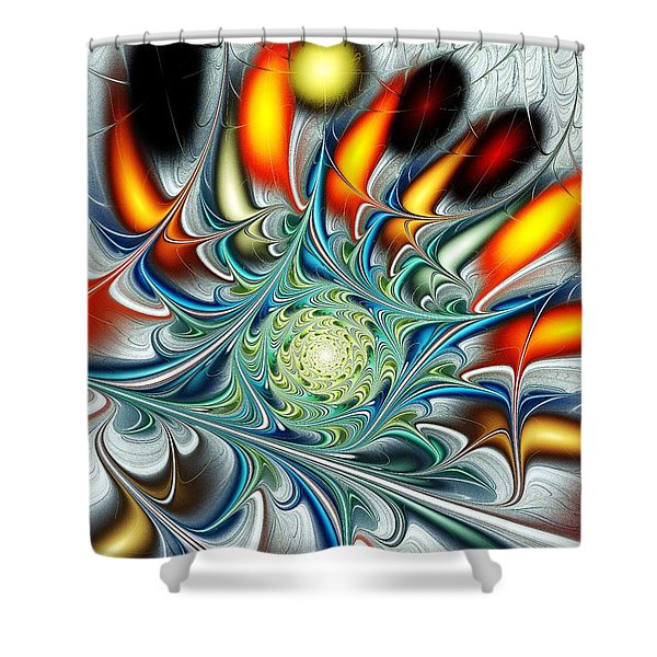 Colors of the Spirit Shower Curtain by Anastasiya Malakhova
