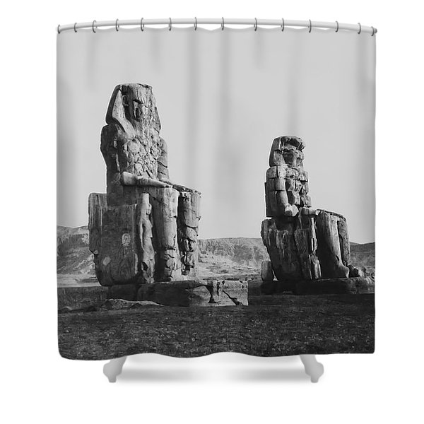 COLOSSES of THEBES - 1851 Shower Curtain by Daniel Hagerman