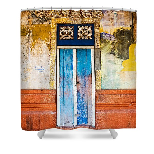 Colourful Door Shower Curtain by Dave Bowman