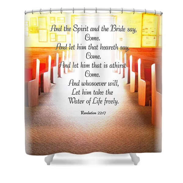 Come Shower Curtain by Debbie Portwood