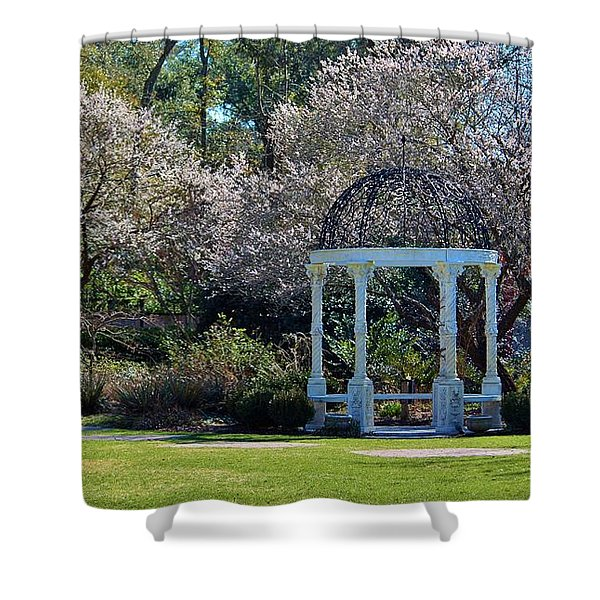 Come Into The Garden Shower Curtain by Cynthia Guinn