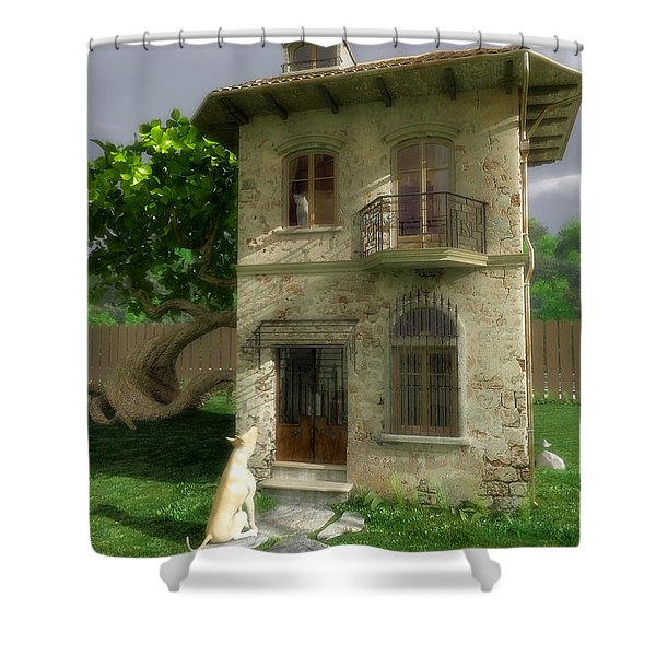Come Out and Play Shower Curtain by Cynthia Decker