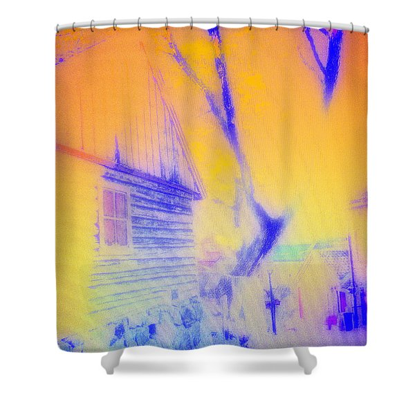 Coming Home Shower Curtain by Hilde Widerberg
