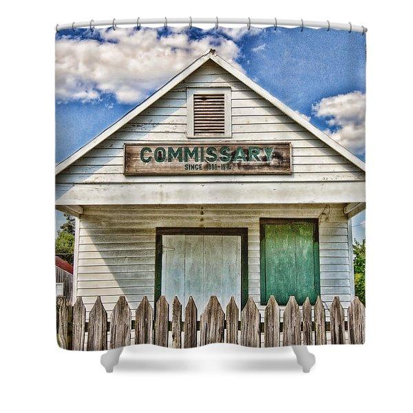 Commissary Shower Curtain by Scott Pellegrin